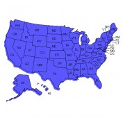 States by Date of Statehood, Abbreviation, Capital