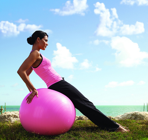 exercise-ball-woman