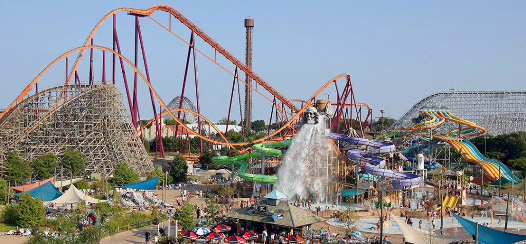 six flags theme park statistics