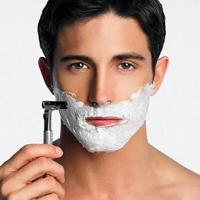 student-shaving