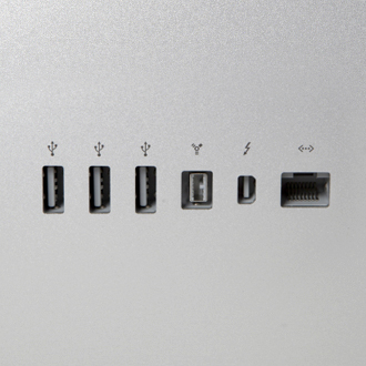 USB Firewire Thunderbolt Ethernet Cable Inputs