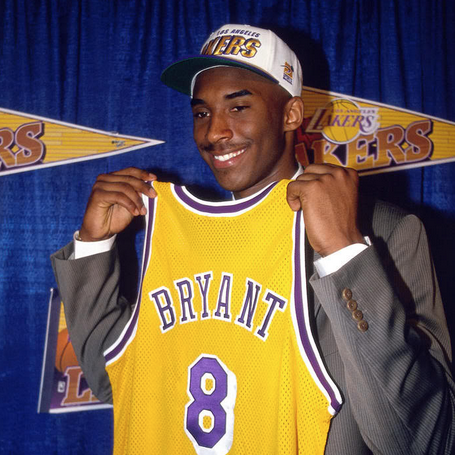 1996 NBA Draft Order Kobe Bryant