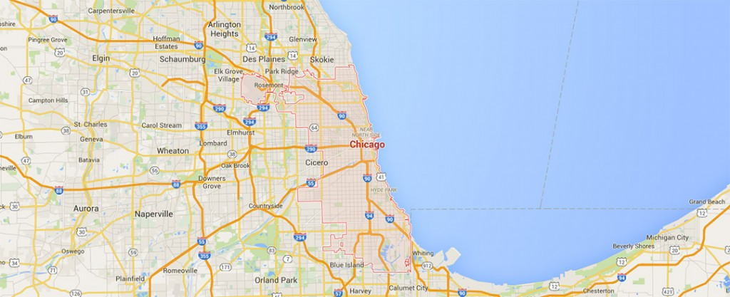 chicago illinois weather map