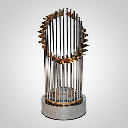 baseball world series trophy pennant mlb